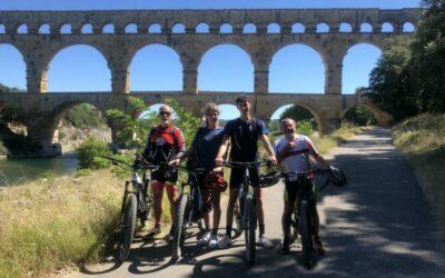 Sortie Ines , Lucas et Christophe autour du Pont du Gard